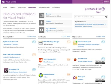 Products and Extensions for Visual Studio